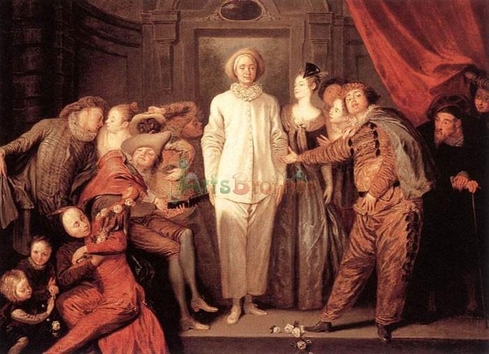 Antoine_Watteau Итальянские комедианты, Антуан Ватто (1710-1720). Персонаж