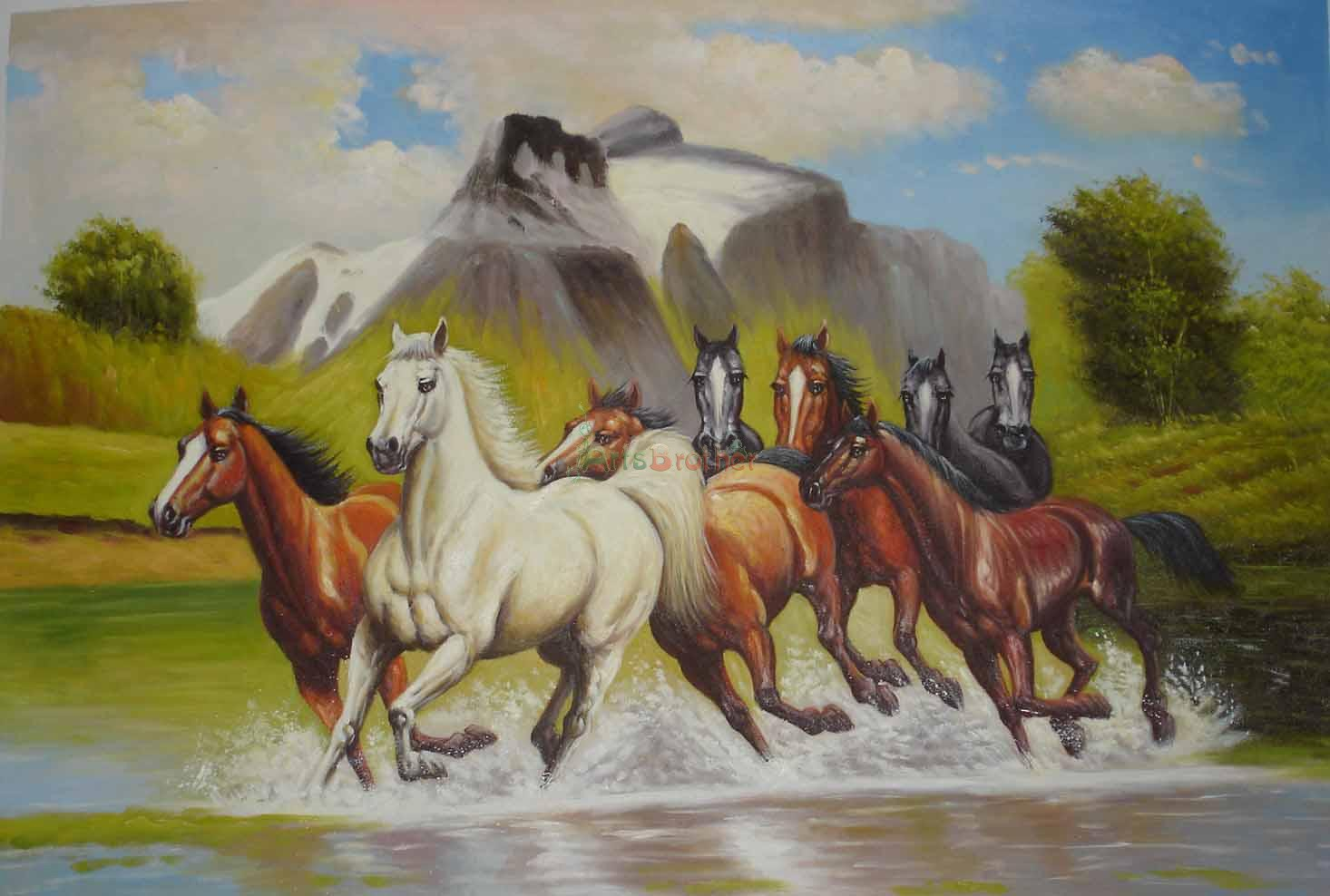 100 handmade museum quality horse paintings horse64 46 00