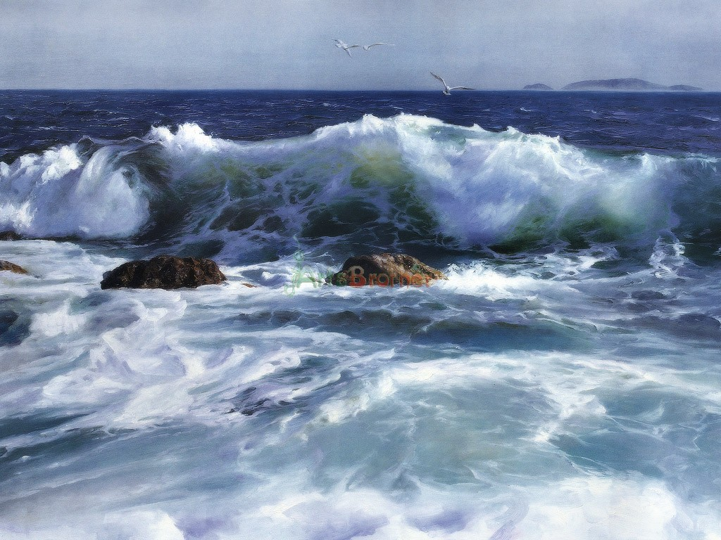100 Handmade Museum Quality Seascape Painting