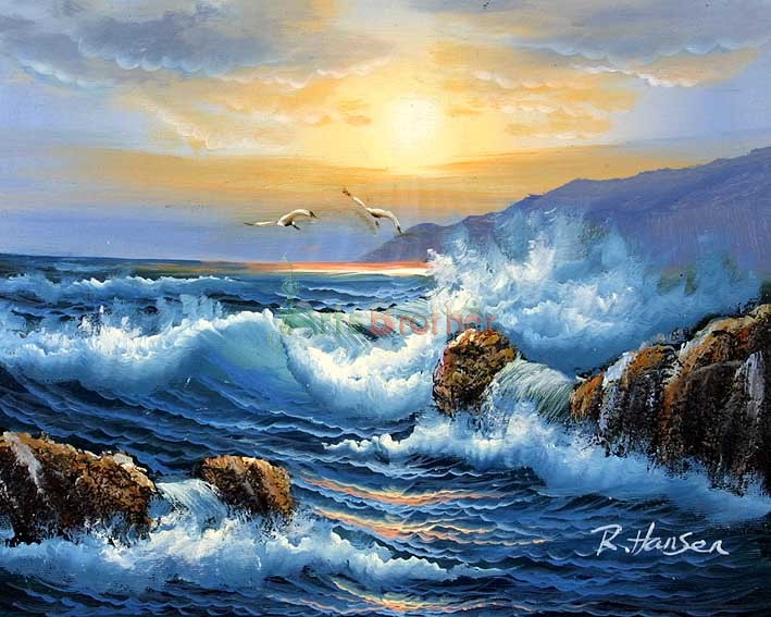 100 handmade museum quality seascape oil painting
