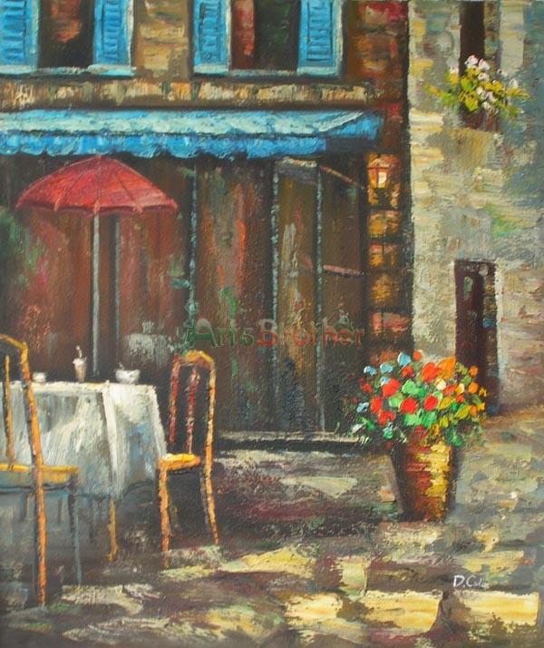 100 handmade museum quality streetscape paintings